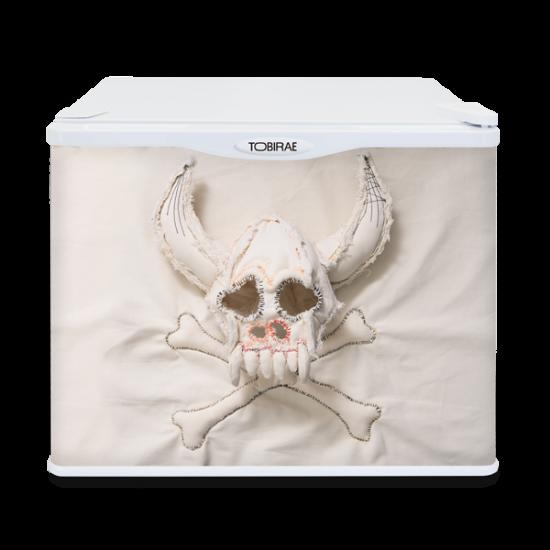 「骸骨冷蔵室」 17リットル小型冷蔵庫の画像